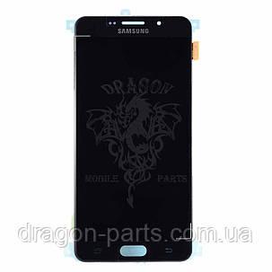 Дисплей Samsung A710 Galaxy A7 с сенсором Черный Black оригинал , GH97-18229B, фото 2