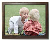 Печать фото на металле с деревянной подложкой 22х30см