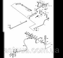 Механизм управления дросселем на YTO-X854