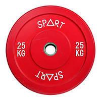 Бамперний кольоровий диск Spart 25 кг