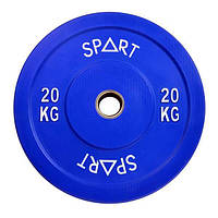 Бамперний кольоровий диск Spart 20 кг