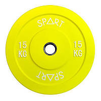 Бамперний кольоровий диск Spart 15 кг