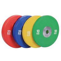 Бамперний кольоровий диск для змагань Spart 25 кг