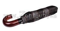 Мужской зонт Три Слона Ручка крюк дерево, купол 116 см (полный автомат), арт.501-20