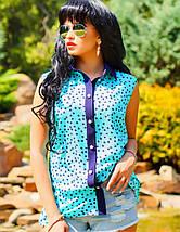 Женская летняя блузка без рукавов с принтом (0921-0920-0922 svt), фото 3