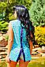 Женская летняя блузка без рукавов с принтом (0921-0920-0922 svt), фото 2