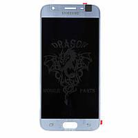 Дисплей Samsung J330 Galaxy J3 2017 с сенсором Серебряный Silver оригинал, GH96-10992A
