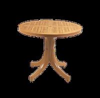 Стол круглый papatya дива плюс 90 тик под дерево