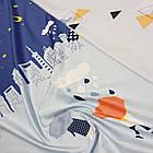 Полуторное постельное белье, Облака, сатин 100%хлопок , фото 2