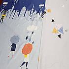 Полуторное постельное белье, Облака, сатин 100%хлопок , фото 3