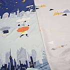 Полуторное постельное белье, Облака, сатин 100%хлопок , фото 4