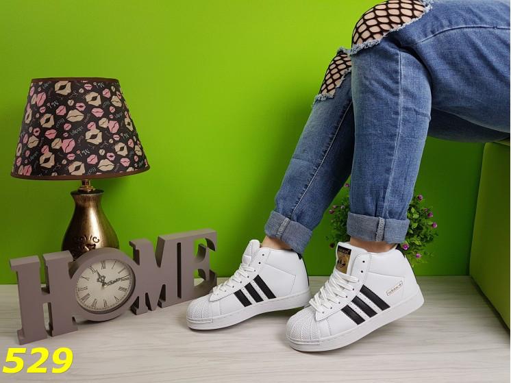 2defc5697 Кроссовки суперстар белые с брендовыми значками, размер 37-41 - T100Shop  для всей Семьи