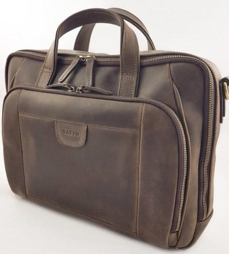 Чоловіча шкіряна сумка VATTO Mk85 Kr450, коричневий