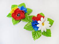 Заколка Полевые цветы (Украинские венки, обручи, заколки)