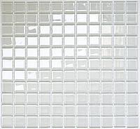 Белая стеклянная мозаика Vivacer B080