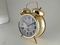 Механические часы PERFECT с будильником золотистые (классика жанра), фото 1