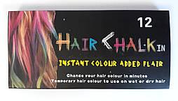 Мелки для волос 12 цв. 8357-12 Китай