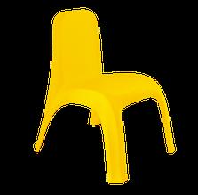 Стілець дитячий пластиковий темно-жовтий