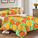 Двуспальное постельное белье, Цитрусовый микс, сатин 100%хлопок