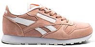 Женские кроссовки Reebok Classic Pink (Рибок Классик, розовые)