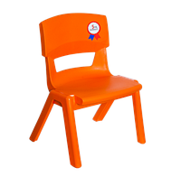 Стул детский irak plastik jumbo №1 оранжевый