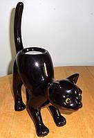 """Керамический подсвечник """"Черная кошка"""", фото 1"""