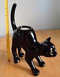 """Оригінальний керамічний свічник """"Чорна кішка"""", Франція, фото 2"""