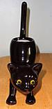 """Оригінальний керамічний свічник """"Чорна кішка"""", Франція, фото 4"""