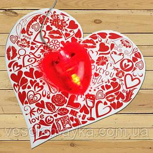 Печать фото на ковриках для мышки (серце)