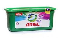 Капсулы для стирки цветных тканей - Ariel Pods 3 в 1 Color 28 шт. (Оригинал)