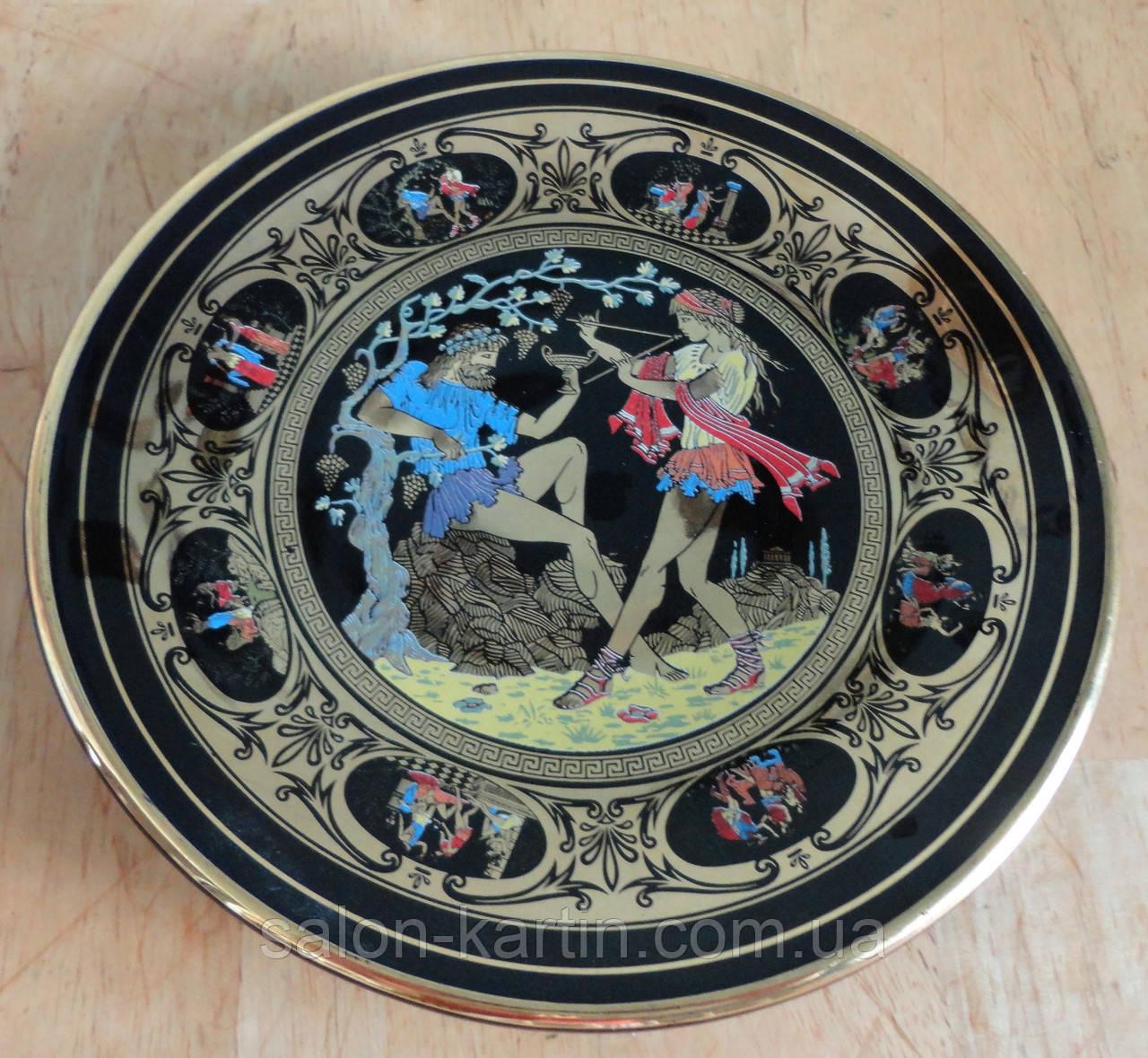 Декоративная тарелка с позолотой, Греция
