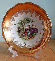 Элитная фарфоровая тарелка с позолотой, Германия, фото 1