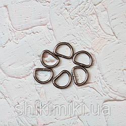 Полукольцо для сумки PK01-2 (20 мм), цвет темный никель