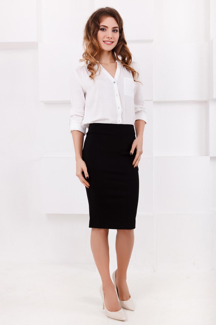 191612214de Стильная черная юбка карандаш