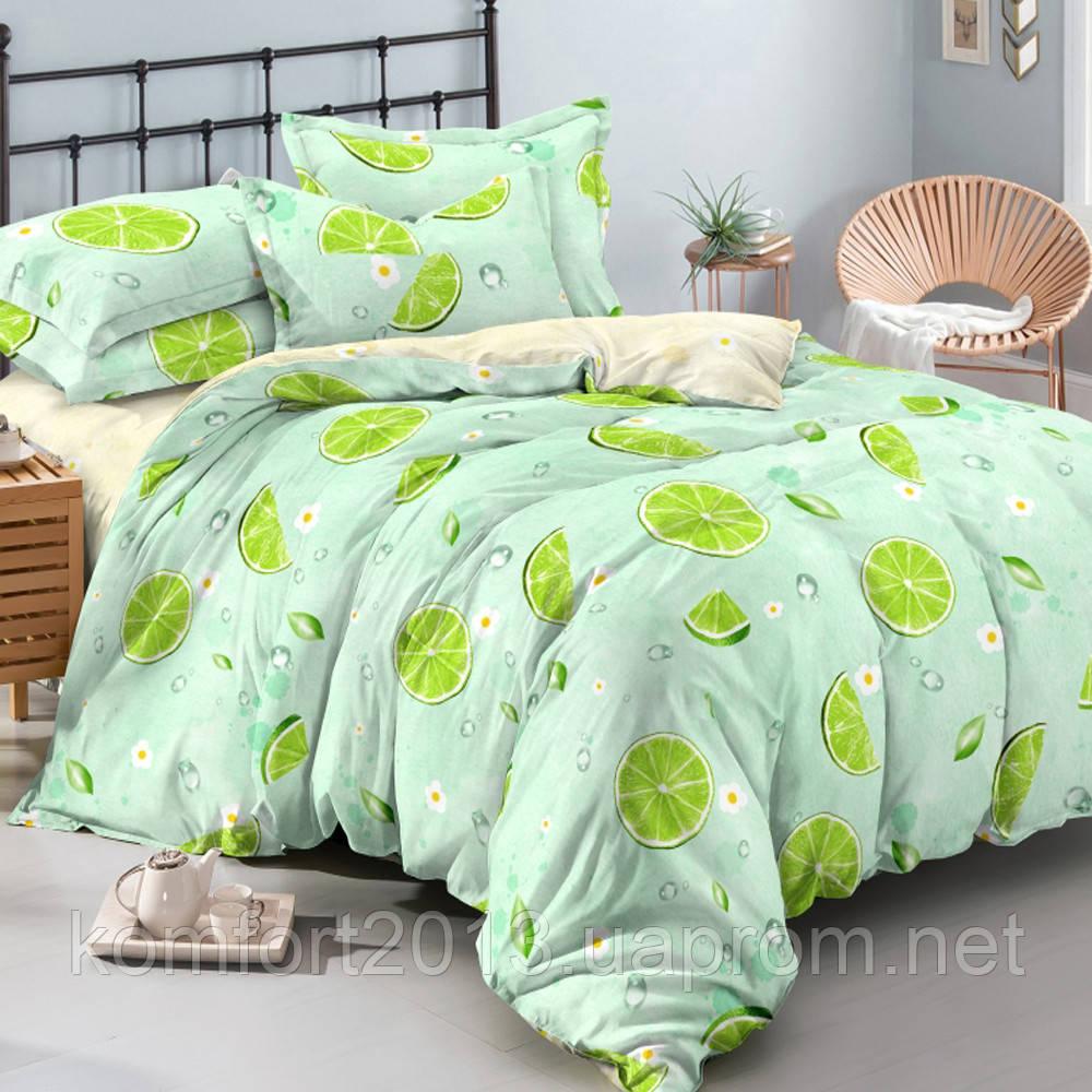 Двуспальное постельное белье, Мохито, сатин 100%хлопок