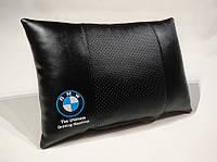 Подушка ортопедическая в автомобиль BMW черная