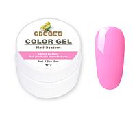 Гель краска и гель-лак 2 в 1 GDCOCO, 5 мл, №102, розовый леденец