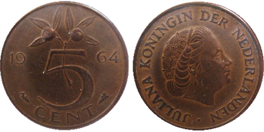 Голландия 5 центов 1980г.