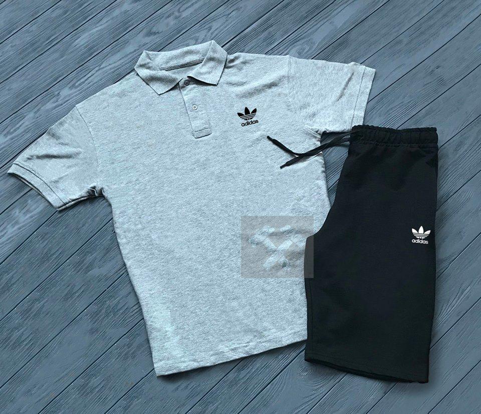 Шорты и футболка поло Adidas| Летняя акция