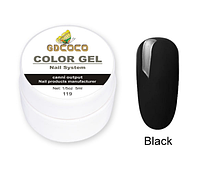 Гель краска и гель-лак 2 в 1 GDCOCO, 5 мл, №119, черный