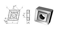 Пластина 05114-190608 (CNUM-190608), ромбическая, Т5К10 (Н30), dвн.=7.93мм, со стружколомом