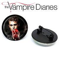 Значок брошь Дневники Вампира Vampire Diaries Стефан Сальваторе, фото 1