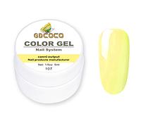 Гель краска и гель-лак 2 в 1 GDCOCO, 5 мл, №107, бледно-желтый