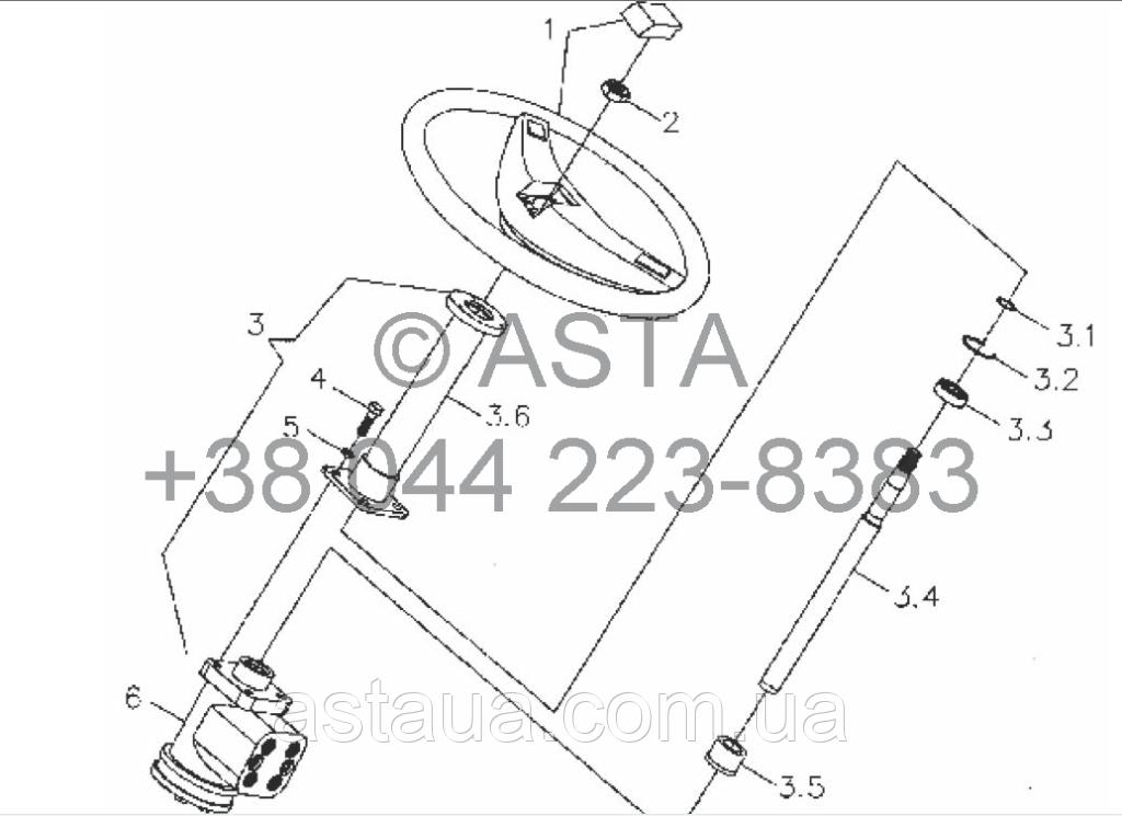 Рулевое управление на YTO X854