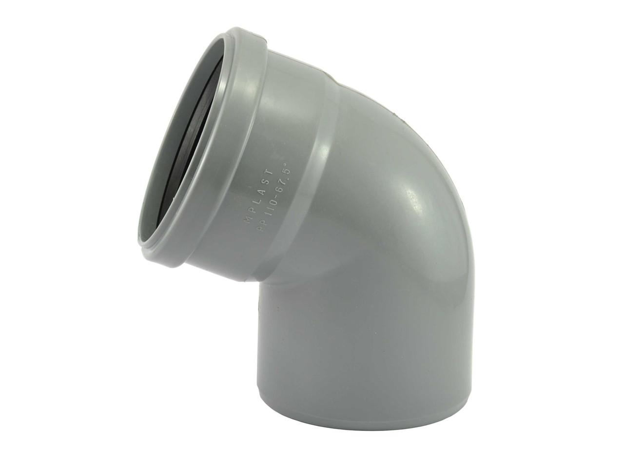 Коліно ПП/ПВХ 110 х 67* внутренняя канализация