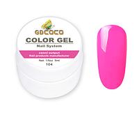 Гель краска и гель-лак 2 в 1 GDCOCO, 5 мл, №104, ярко-розовый