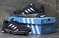 Мужские кроссовки Adidas Marathon TR 26 темно-синие  адидас   - Сетка, подошва: пена размеры: 41-46 Индонезия