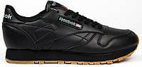Женские кроссовки Reebok Classic Black (Рибок Классик, черные)