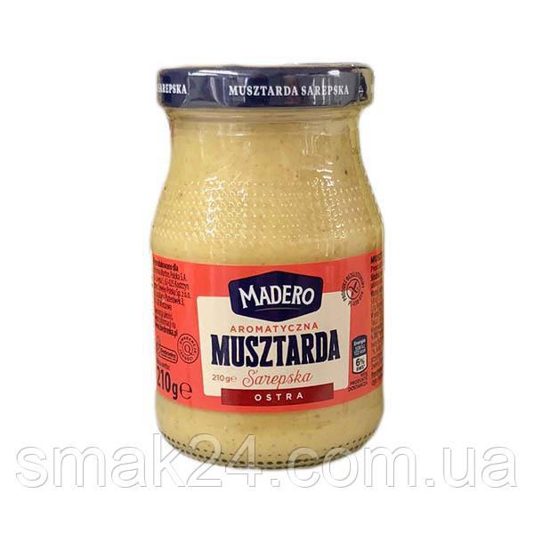 Горчица острая (муштарда) ostra Madero Польша 210 г