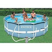 Каркасный бассейн Intex 28718 intex 28218 366 х 99 см с фильтр насосом и лестницей